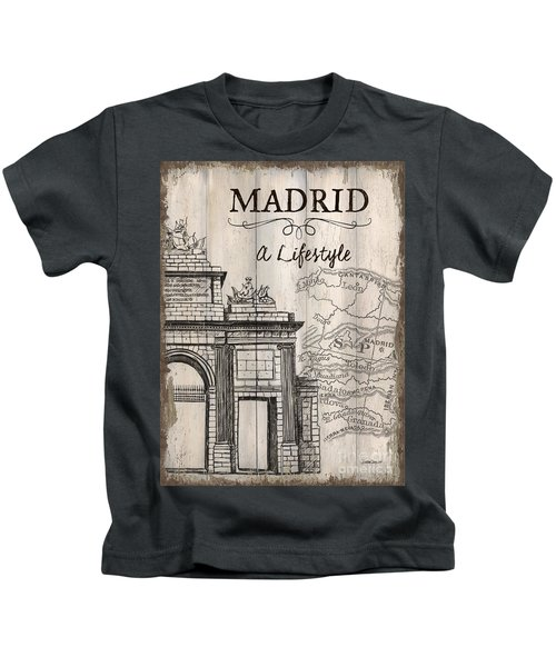 Vintage Travel Poster Madrid Kids T-Shirt