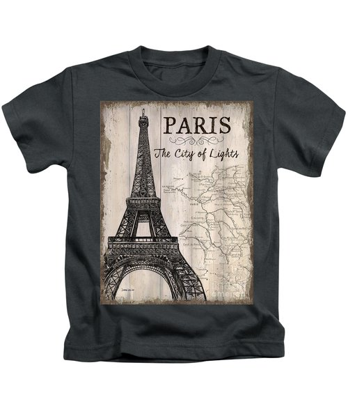 Vintage Travel Poster Paris Kids T-Shirt