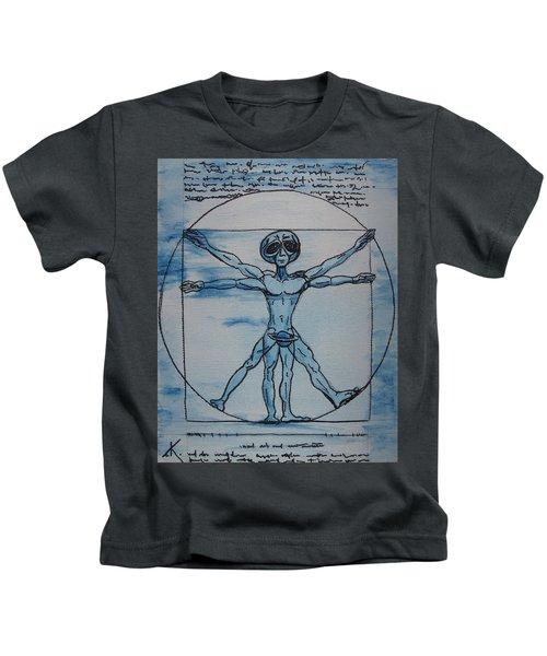 Vitruvian Alien Kids T-Shirt