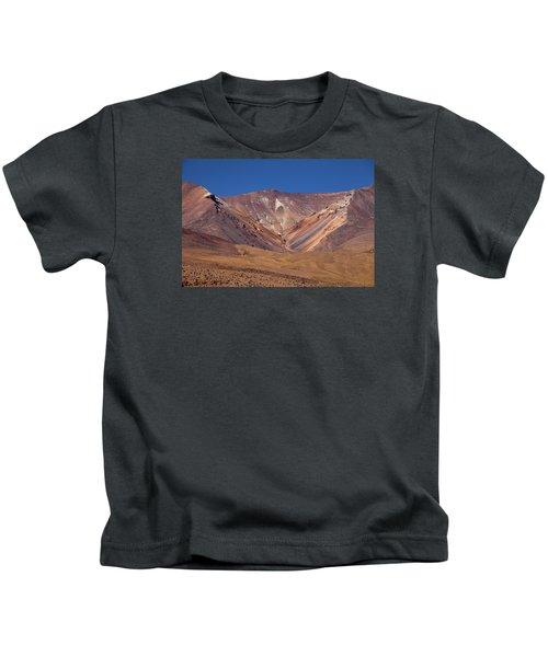 Volcano Crater In Siloli Desert Kids T-Shirt