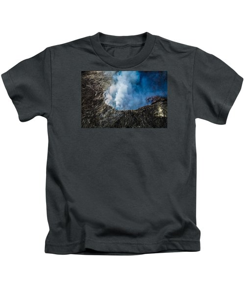 Another View Of The Kalauea Volcano Kids T-Shirt