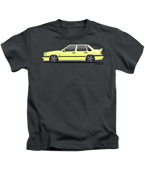 Volvo 850r 854r T5-r Creme Yellow Kids T-Shirt by Monkey Crisis On Mars