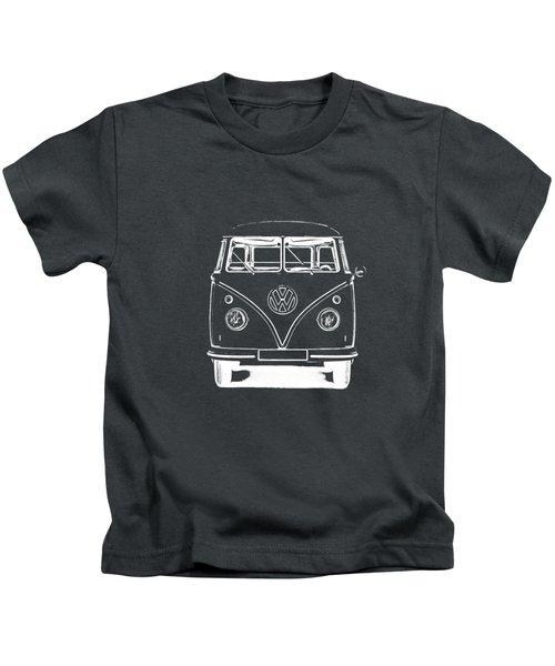 Vw Van Graphic Artwork Tee White Kids T-Shirt