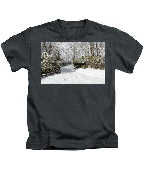 Wagon Wheels And Firewood Kids T-Shirt