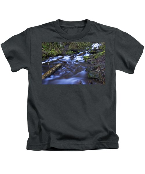 Wahkeena Creek Bridge # 5 Kids T-Shirt