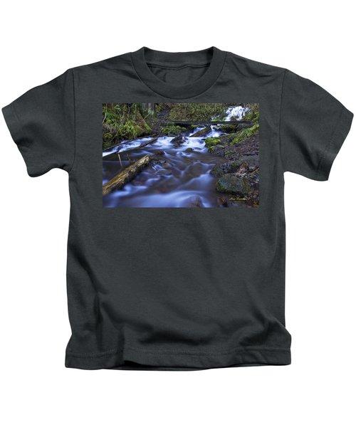 Wahkeena Creek Bridge # 5 Signed Kids T-Shirt