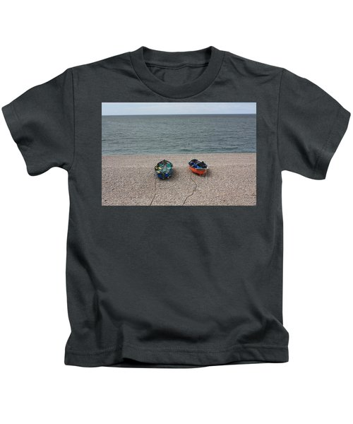 Waiting To Go To Sea Kids T-Shirt