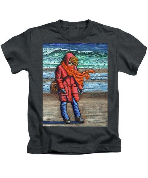 Walk On Beach Kids T-Shirt