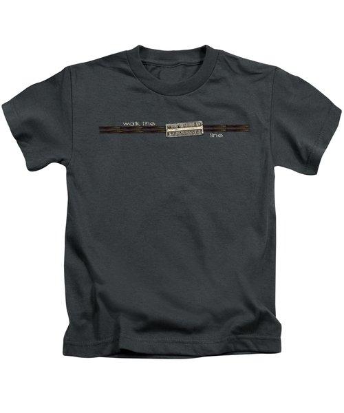 Walk The Line Light Lettering Kids T-Shirt
