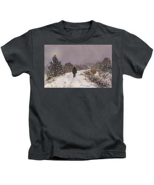 Walking Into The Light Kids T-Shirt