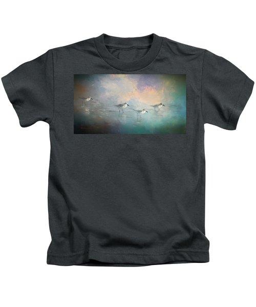 Walking Into The Sunset Kids T-Shirt