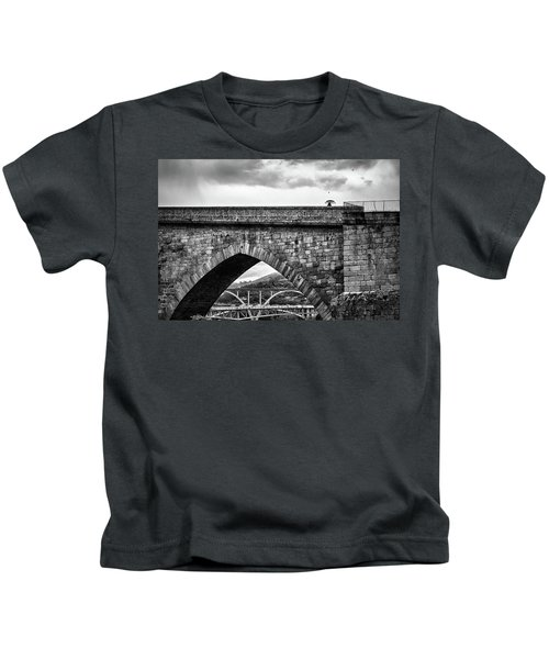 Walking On The Roman Bridge Kids T-Shirt