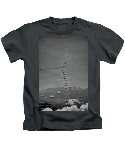 Walking On Thin Ice Kids T-Shirt