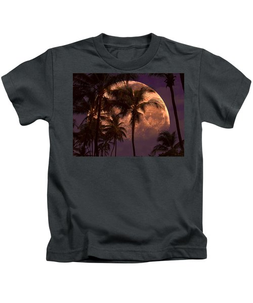 Warm Tropical Nights Kids T-Shirt