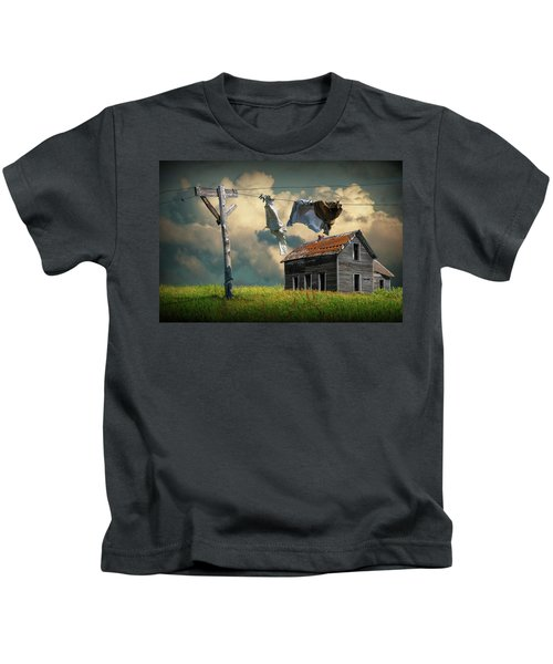 Wash On The Line By Abandoned House Kids T-Shirt