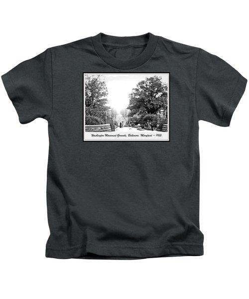 Washington Monument Grounds Baltimore 1900 Vintage Photograph Kids T-Shirt