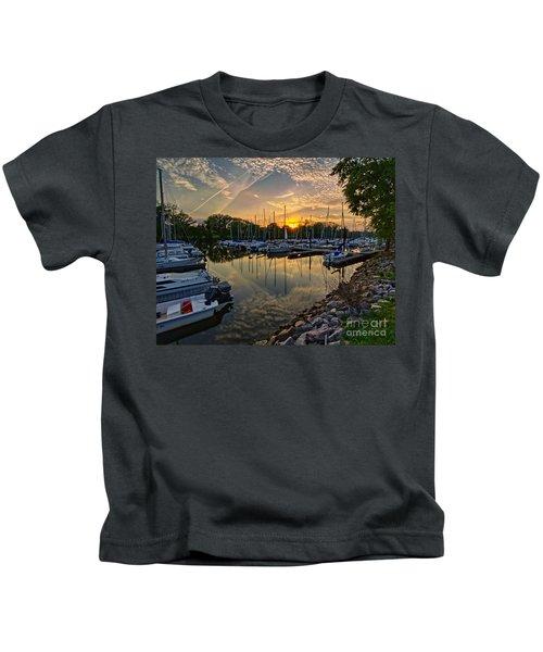 Washington Sailing Marina Kids T-Shirt
