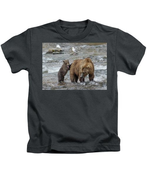 Watching For The Sockeye Salmon Kids T-Shirt