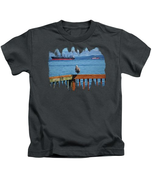 Watching The Ships Go By Kids T-Shirt