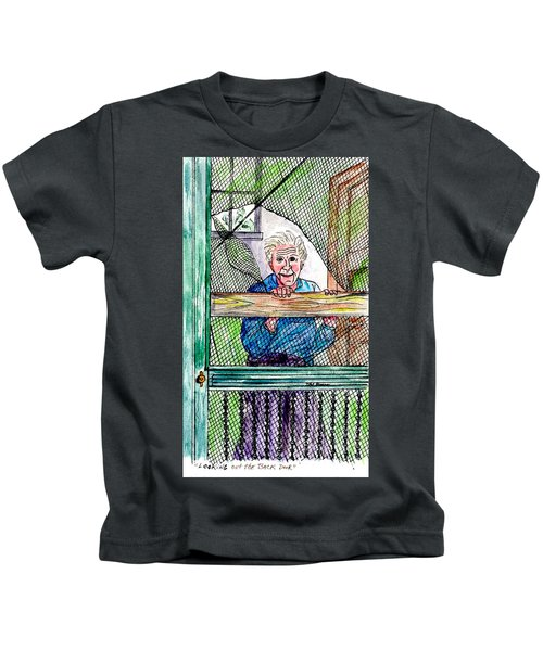 Watching To See If The Kids Are Coming Kids T-Shirt