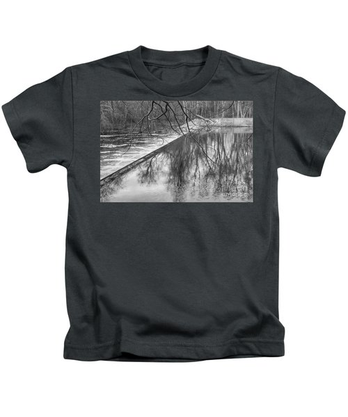Water Flowing Over Dam In Wayne New Jersey Kids T-Shirt