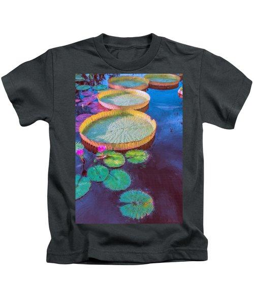 Water Lily Pattern Kids T-Shirt