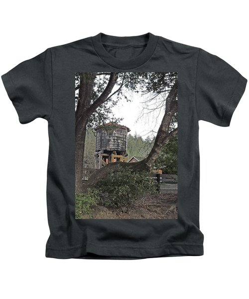 Water Tower @ Roaring Camp Kids T-Shirt