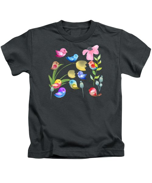 Watercolor Garden Party Kids T-Shirt