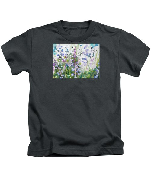 Watercolor - Lupine Wildflowers Kids T-Shirt
