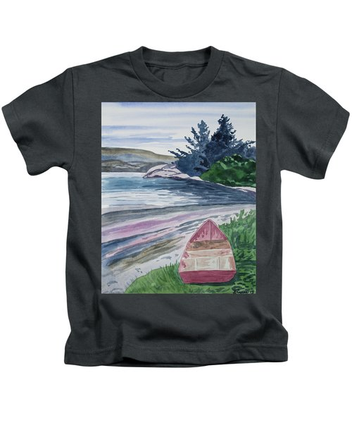 Watercolor - New Zealand Harbor Kids T-Shirt