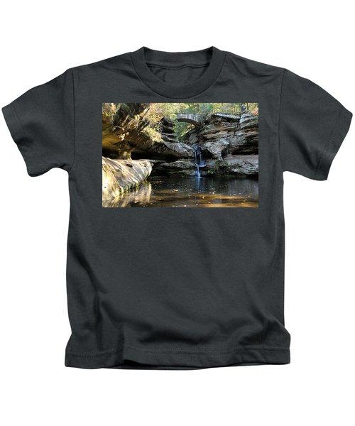 Waterfall At Old Man Cave Kids T-Shirt
