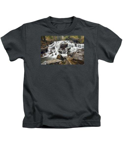 Waterfall In Lee Vining Canyon Kids T-Shirt