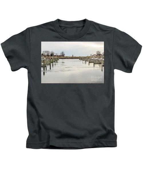 Waterfront Park In Ludington, Michigan Kids T-Shirt