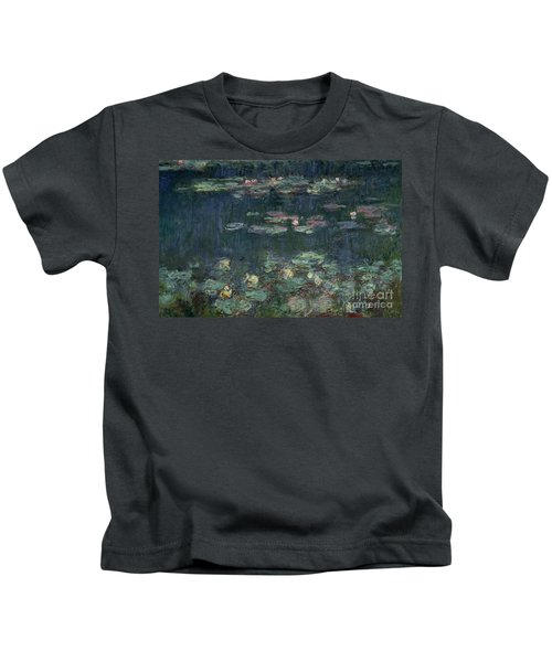 Waterlilies Green Reflections Kids T-Shirt