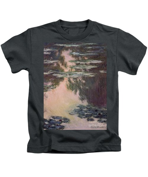 Waterlilies With Weeping Willows Kids T-Shirt