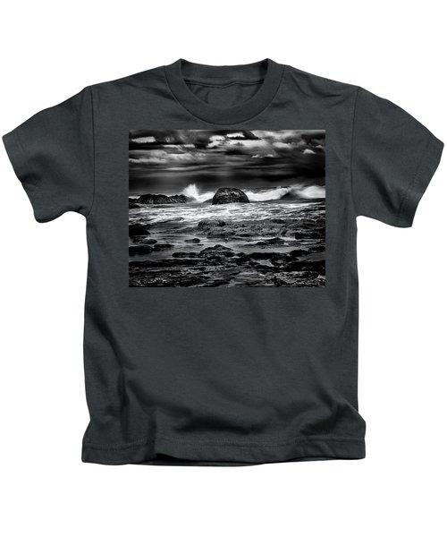 Waves At Dawn Kids T-Shirt