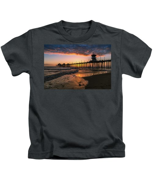 Waves At Sunset Kids T-Shirt