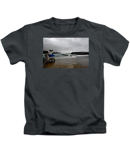 Waves Azores-033 Kids T-Shirt