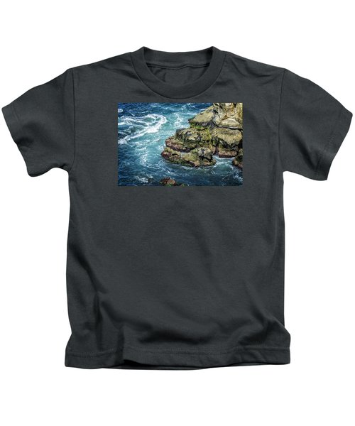 Waves Of Blue Kids T-Shirt