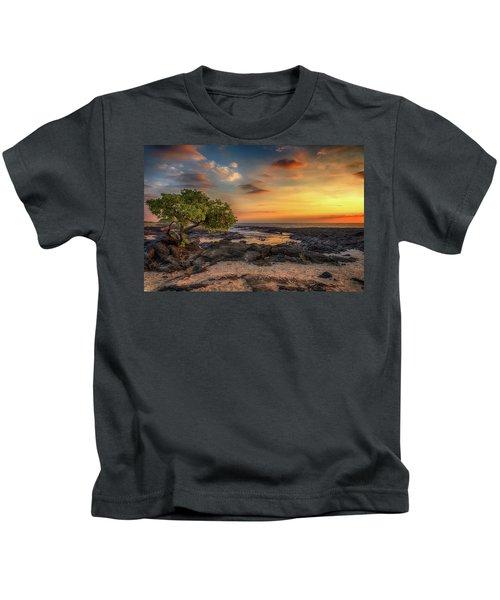 Wawaloli Beach Sunset Kids T-Shirt