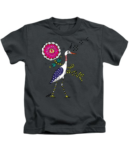 Weak Coffee Lovebird Kids T-Shirt by Tara Griffin