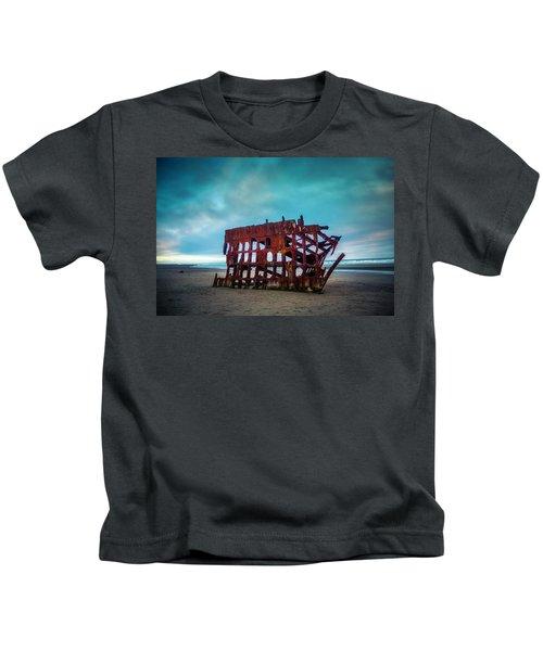 Weathered Rusting Shipwreck Kids T-Shirt