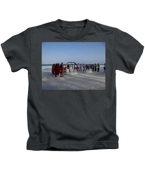 wedding with Maasai singers Kids T-Shirt