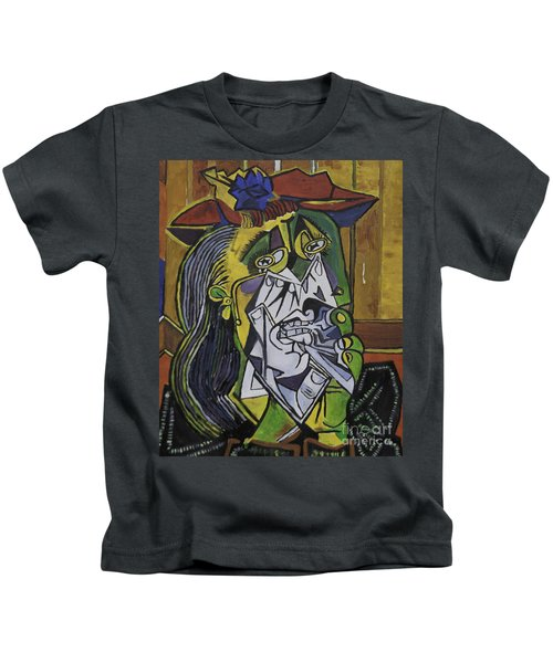 Picasso's Weeping Woman Kids T-Shirt