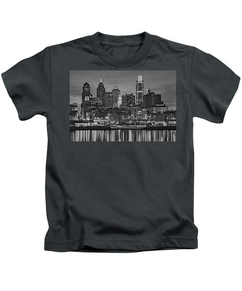 Welcome To Penn's Landing Bw Kids T-Shirt