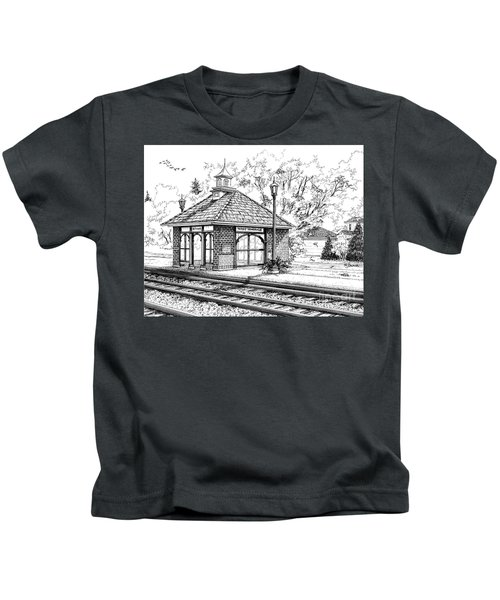 West Hinsdale Train Station Kids T-Shirt
