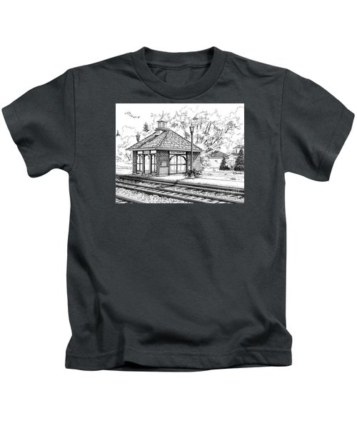 West Hinsdale Train Station Kids T-Shirt