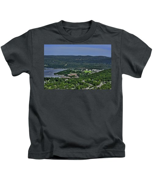 West Point From Storm King Overlook Kids T-Shirt