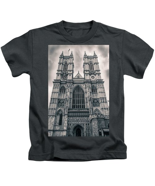 Westminister Abbey Bw Kids T-Shirt