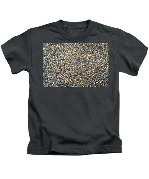 Wet Beach Stones Kids T-Shirt